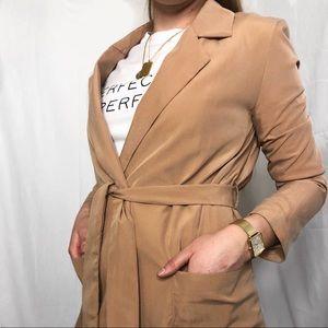 UO tan longline blazer
